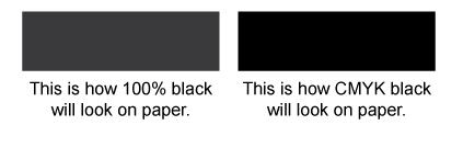 100% black vs. rich black