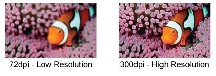 Low resolution vs. high resolution