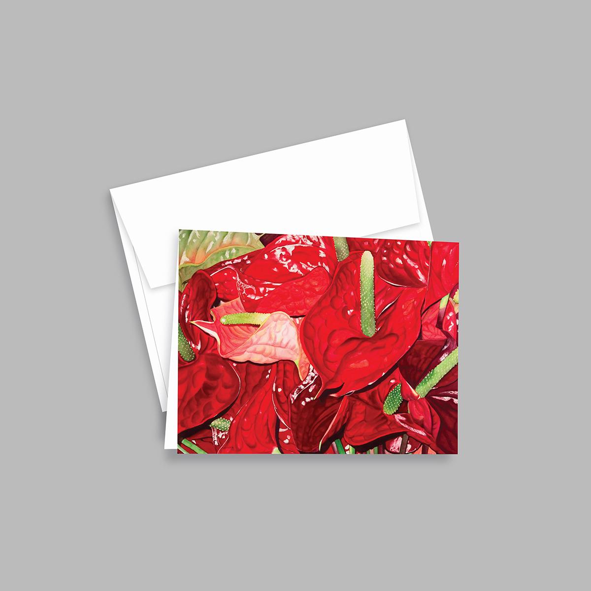 Voluptuous Anthuriums by Lynda White